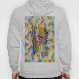 ASL for MOTHER on a Bright Bubble Background Hoody