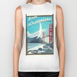 San Francisco, California Glider poster print. Biker Tank