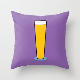 Beer Glasses (Pilsner) Throw Pillow