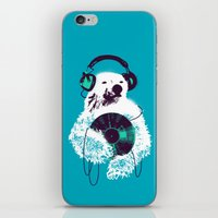 budi iPhone & iPod Skins featuring Record Bear by Picomodi
