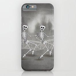 Dancing skeletons II iPhone Case