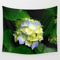 hydrangea Wall Tapestries featuring Hydrangea  by Chris' Landscape Images & Designs
