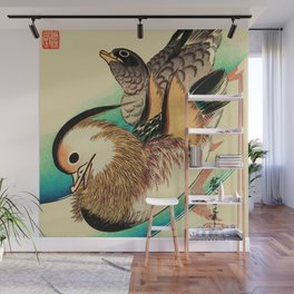 Mandarin Ducks - Vintage Japanese Art Wall Mural