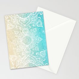 Beach Mandala Stationery Cards