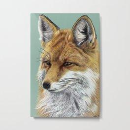 Fox Portrait 01 Metal Print