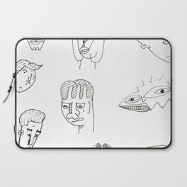 Cartoon character design print with monster people Laptop Sleeve