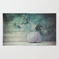 shell Area & Throw Rugs featuring Shell by KunstFabrik_StaticMovement Manu Jobst