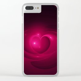 Here Is My Heart Fractal Clear iPhone Case