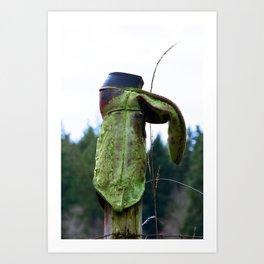 Cowboy Hanger Art Print