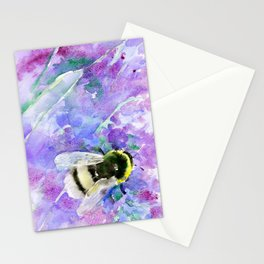 Bumblebee and Lavenders Stationery Cards