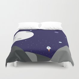 Fly me to the Moon Duvet Cover