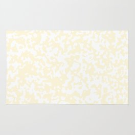 Small Spots - White and Cornsilk Yellow Rug