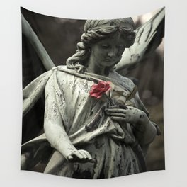 Angel with a rose Wall Tapestry