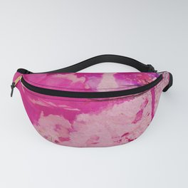 pink floral on crumbling wall Fanny Pack