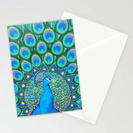Showing My Colors - Peacock Stationery Cards
