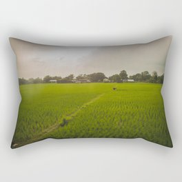 The Rice Paddies of Nepal 001 Rectangular Pillow