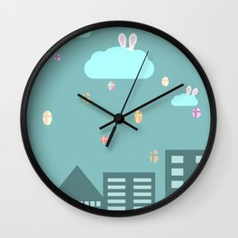 Easter town Wall Clock