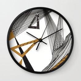 Angular Waves (7.28) Wall Clock