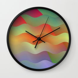 Red Mountain Mist Wall Clock