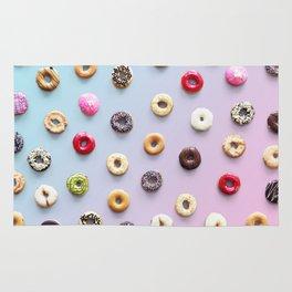 Rainbow Donuts Pattern Rug