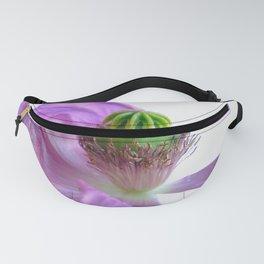 Poppy Purple Flower Fanny Pack