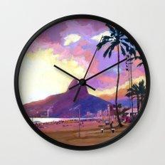 Por do Sol Wall Clock