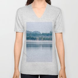 Morning begins with mist Unisex V-Neck