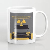 mcfly Mugs featuring No183 My Back to the Future minimal movie poster by Chungkong