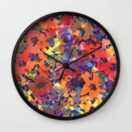 Late Summer Garden Wall Clock