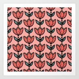 Big floral - coral5 Art Print