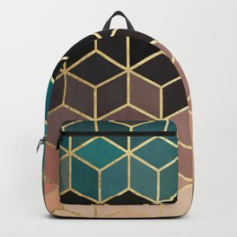 Colorful and golden pattern II Backpack