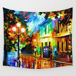 Tardis Art And The Light Street Wall Tapestry