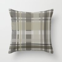 plaid Throw Pillows featuring Plaid by GoAti
