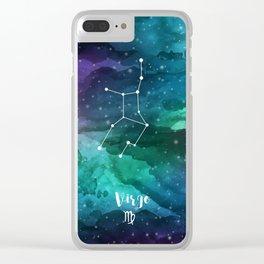 Virgo Constellation Clear iPhone Case