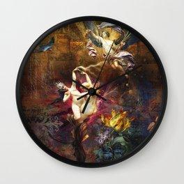 Falling Angels Wall Clock
