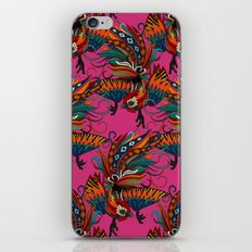 rooster ink pink iPhone & iPod Skin