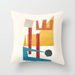 Abstract Stacked Geometry 4 Throw Pillow