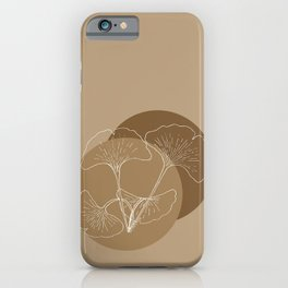 Ginkgo Leaves in Earthy Color Palette iPhone Case