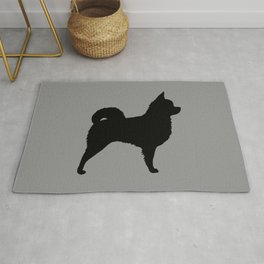 Long Haired Chihuahua Silhouette Rug