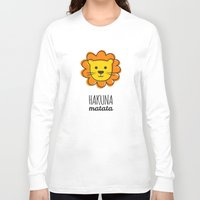 lion king Long Sleeve T-shirts featuring Lion & King by Jane Mathieu