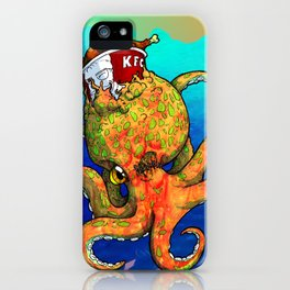 The Octopus and the Chicken iPhone Case