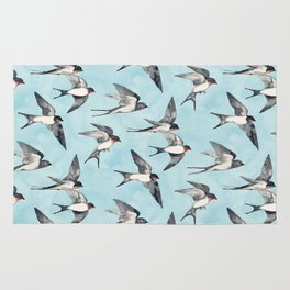 Blue Sky Swallow Flight Rug