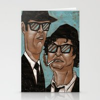 blues brothers Stationery Cards featuring The Blues Brothers by Dean Arscott Designs LLC