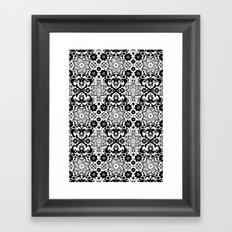 Folk flowers Framed Art Print