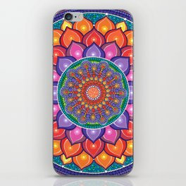 Lotus Rainbow Mandala iPhone Skin