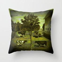 CowCurios 02 Throw Pillow