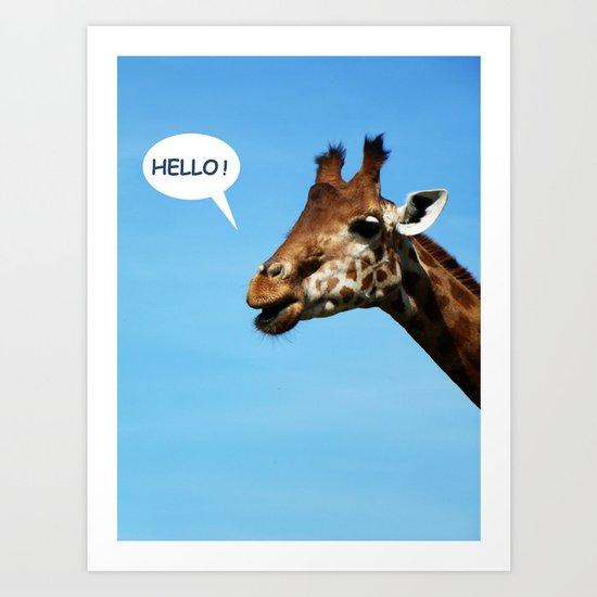 Hello ! Art Print
