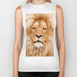Lion Portrait Photograph Biker Tank