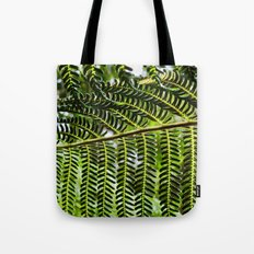Feather Leaves Tote Bag