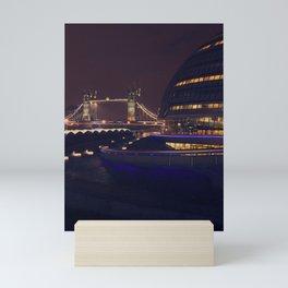 London Bridge at Night Mini Art Print
